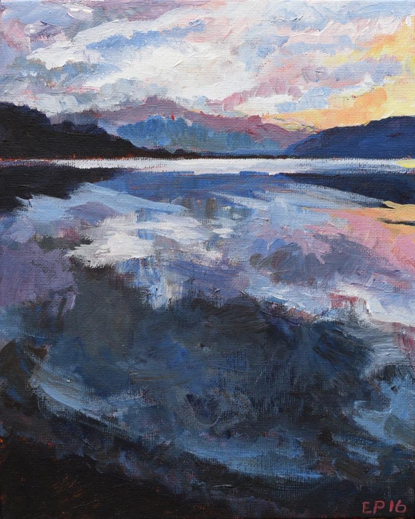 Lake Wanaka sunset in blue new Zealand
