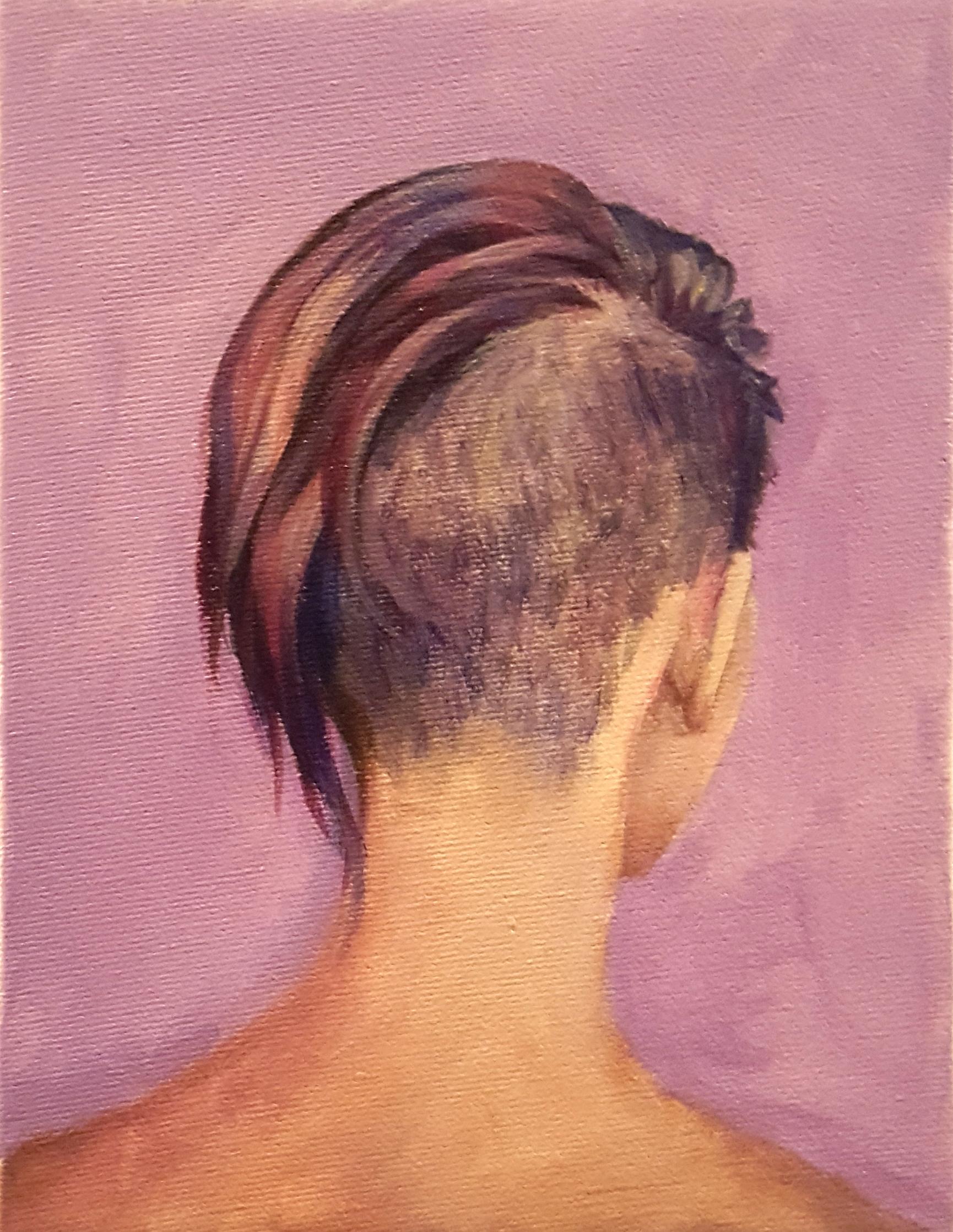 Hair Study no.5 undershave purple hair mohawk