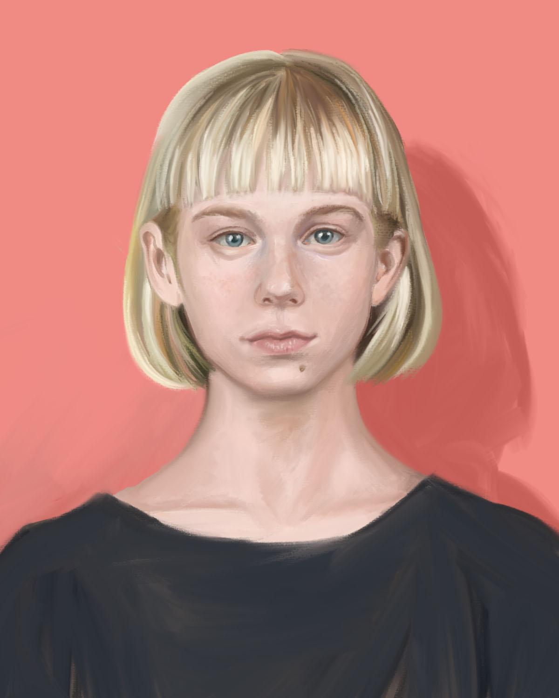 Emma Pittson Portrait of Yola Photoshop